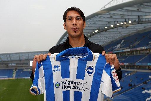 Leonardo Ulloa is ready for life with Albion (picture by Paul Hazlewood)
