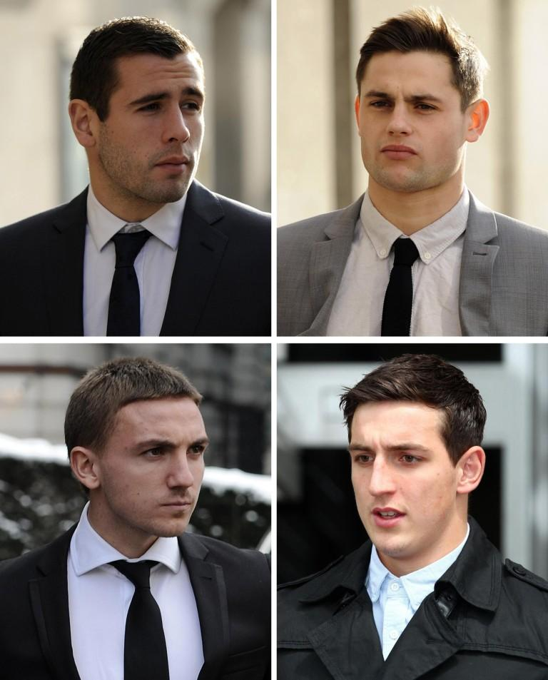Clockwise from top left: Steve Cook, George Baker, Anton Rodgers and Lewis