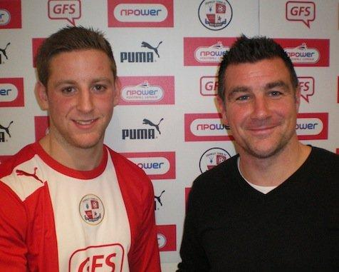 Connor Essam with Richie Barker