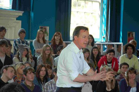David Cameron at Varndean College in 2010