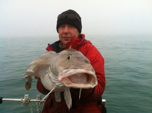 Dominic Camilleri with his record-breaking cod