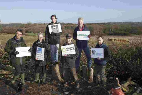 Environmentl group leaders meet at Combe Haven