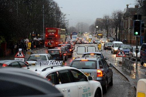 Commuter traffic pictured on Lewes Road on Tuesday, January 29