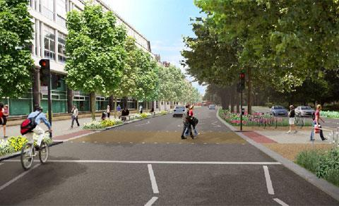 An artist's impression of how Grand Parade will look if the changes are approved