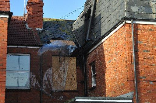 Damage to the home in Wordsworth Road, Worthing, after a fire