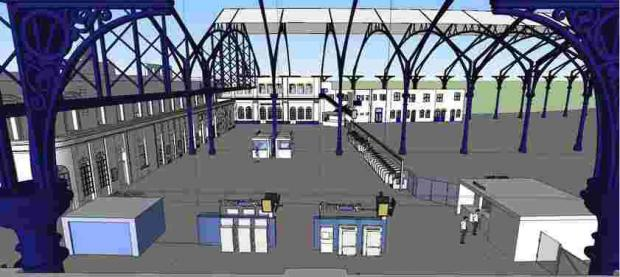 An artist's impression of the Brighton Station concourse plans