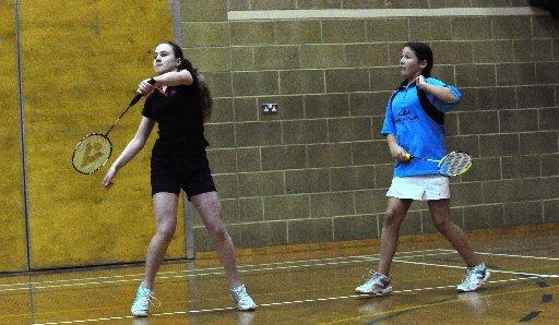 Young athletes competing in the Mid Sussex Junior Badminton Tournament