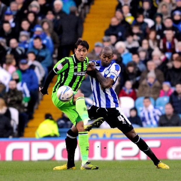 Leonardo Ulloa on the ball against Wednesday