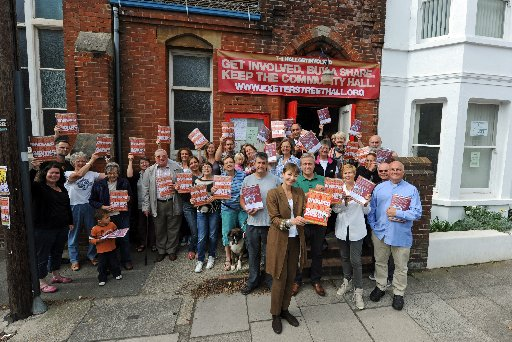 Campaigners at the launch of the Exeter Street Hall campaign