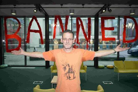 Artist Vince Laws at the Jubilee Library