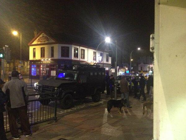 SIEGE: Argus business editor John Keenan tweeted this picture at about 10pm