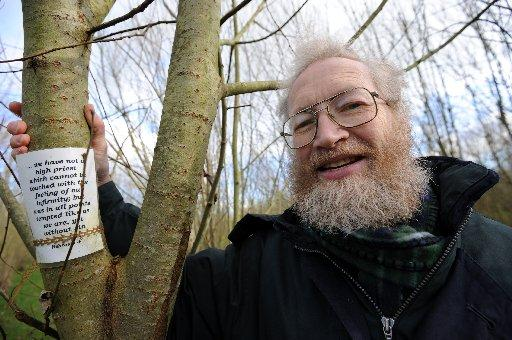 The Argus: Peter Grunner, who created the message in willow