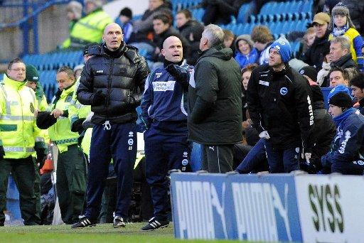 Charlie Oatway and Dave Jones clash at Hillsborough last month