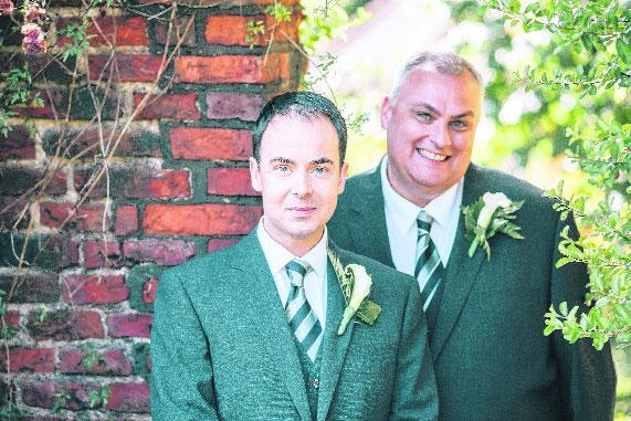Charity worker and equality activist Paul Elgood entered into a civil partnership with Lee Shingles last year