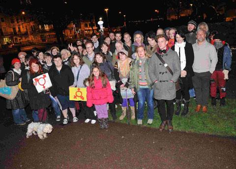 In November last year, a vigil was held on the Old Steine in Brighton to remember trans victims of hate crime