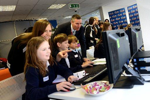 Patcham Junior School pupils at Disney's Club Penguin headquarters in Brighton