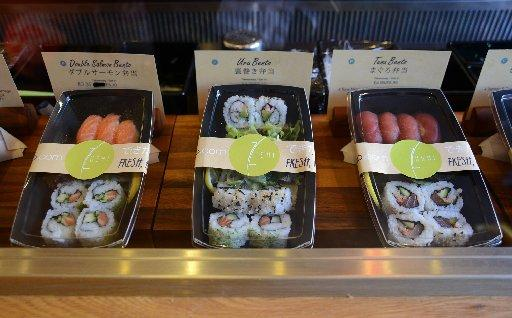 Bento boxes at Zushi. Photo by Sam Stephenson