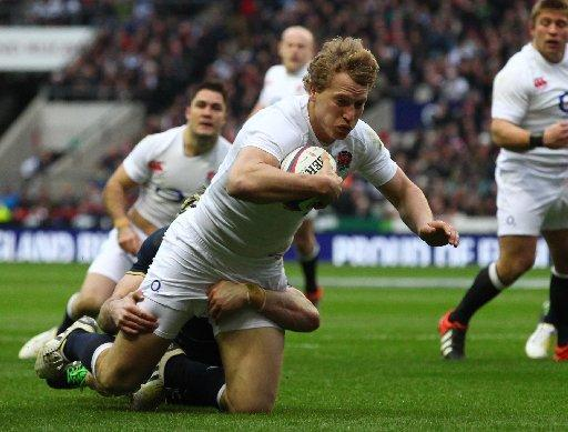 Billy Twelvetrees on his England debut