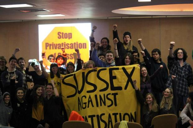 Activists occupy University of Sussex building over privatisation of jobs