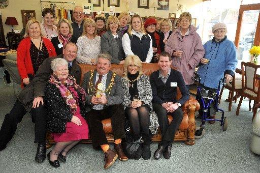 Brighton and Hove mayor Bill Randall visits the Martlets shop in Woodingdean