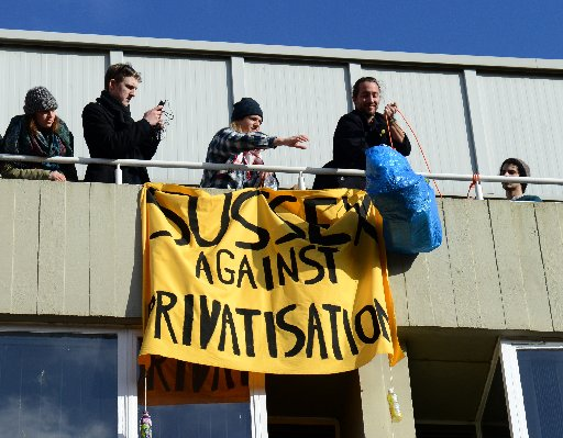 Students occupying buildings at University of Sussex