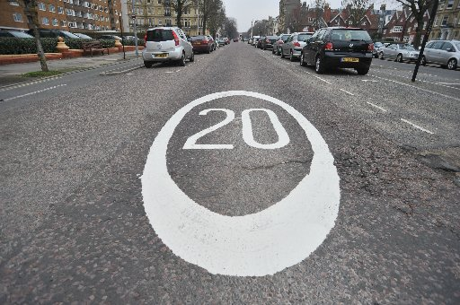 A new 20mph marking in Grand Avenue, Hove