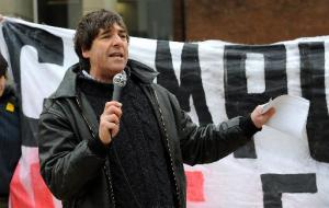 The Argus: Mark Steel at University of Sussex protest