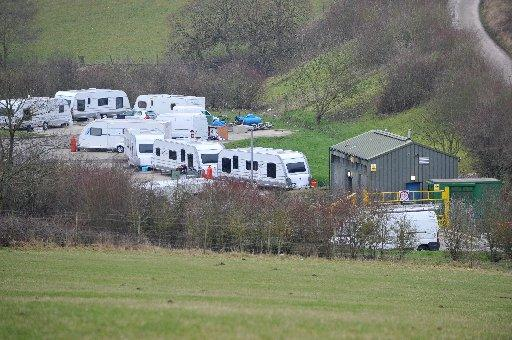 Travellers at the authorised site at Horsdean, Patcham