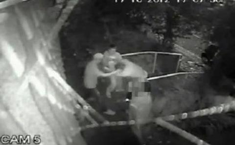 A still from CCTV showing the brutal attack on the 18-year-old in Buckingham Road, Shoreham