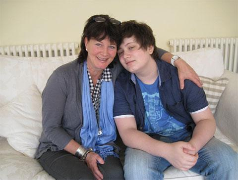 Bella Hoare with son Charlie, who struggles with ME
