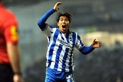 Leonardo Ulloa has yet to score in the league for Albion