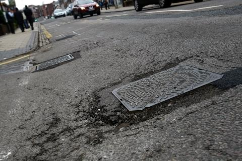 Sussex roads are blighted by potholes