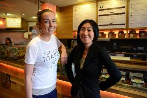 The Argus: Jennifer Smith, (L) and Megumi Evans, (R) at Zushi