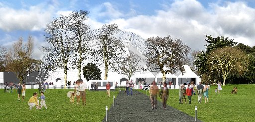 An artist's impression of Theatre In The Park