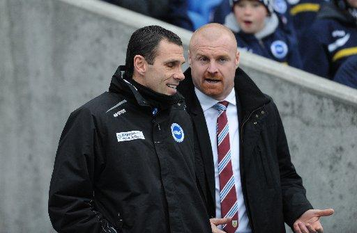 Gus Poyet with Burnley manager Sean Dyche