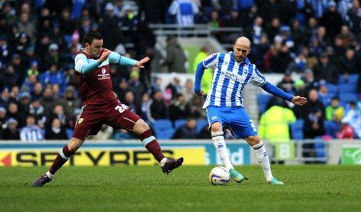 Bruno in action against Burnley