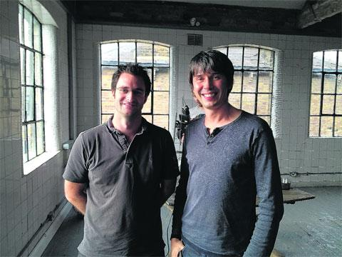 Mark Sansom with Professor Brian Cox