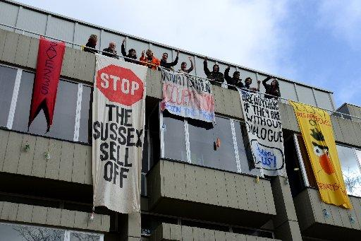 Students occupying Bramber House