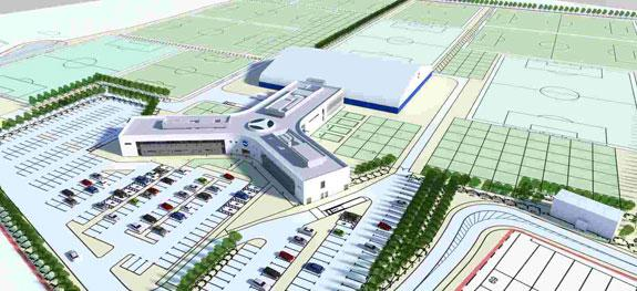 An artist's impression of the Brighton and Hove Albion training ground in Lancing