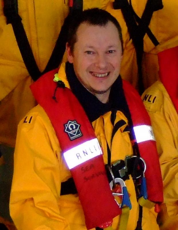 Lifeboat volunteer Gavin Butcher who lost his battle with cancer