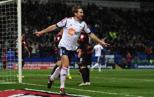 Craig Dawson celebrates his recent winner against Peterborough