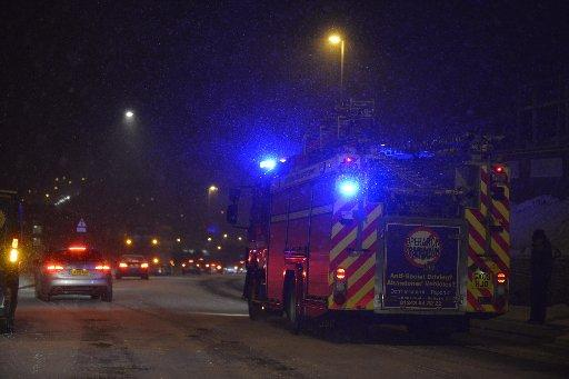 Emergency services battling through the icy weather