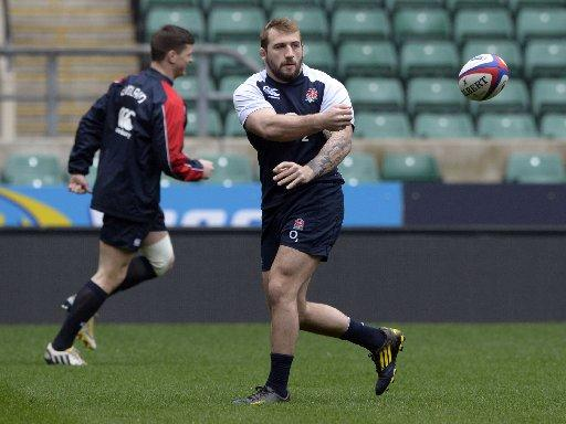 Joe Marler in training