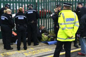 Smash EDO protesters arrested at Brighton factory gates