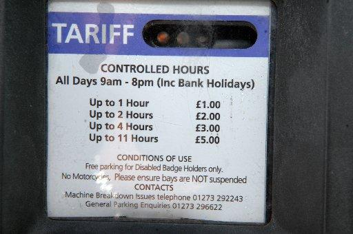 Winter parking charges in Madeira Drive