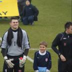 Tom Betts representing England under 18's