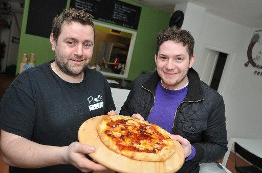 Saltdean Sizzler Pizza, the hottest pizza in the world. Paul Brayshaw of Pauls Pizza and Christopher Barnard