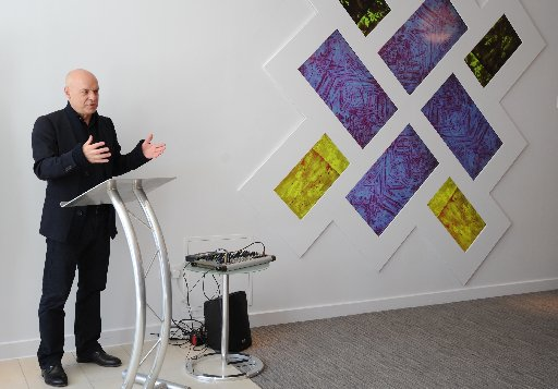 Brian Eno at the launch