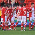 Reds celebrate Mike Jones' winner