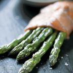 Marcus Bean's asparagus wrapped in smoked salmon with scrambled egg